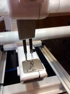Handi Quilter Longarm Machine quilting threaded needle