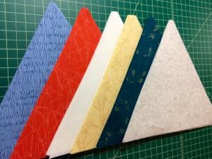 Carolyn Friedlander Botanics fabric 60 degree triangles 1