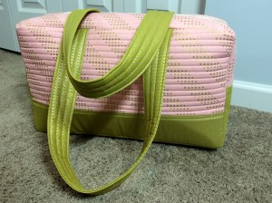 Noodlehead Cargo Duffle pattern bag back