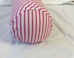 Fantasia fabric unicorn throw pillows bolster pillow cushion monokeros stripe candy side
