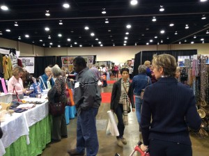 Original Sewing and Quilting Expo Atlanta Gwinnett Center wide crowd