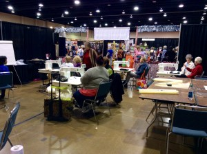 Original Sewing and Quilting Expo Atlanta Gwinnett Center wide Handi Quilter studio machines sweet sixteen