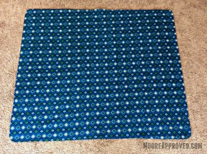 Moore Approved Connecting Threads Flannel Blue Blanket Wide