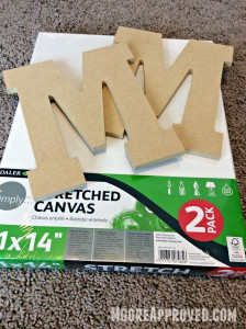 Moore Approved Stretched Canvas Monogram Chipboard Letter M Craft Art Supplies Walmart