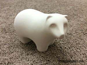 Target Handmade Modern Porcelain Bear Figurine Unfinished