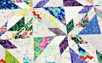 Fabric Amy Butler Violette Alison Glass Sunprint layer cake scrappy Hunters Star quilt block Carolyn Friedlander Architextures arranging blocks