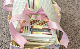Moore Approved On The Go Fabric Basket Matching Burp Cloth Baby Gift Set Long Angle