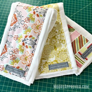 Moore Approved On The Go Fabric Basket Matching Burp Cloths