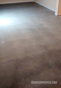 Workshop Progress Concrete Floor Maintainer tool rental paint drywall mud residue clean cleaning solution home depot moore approved dry