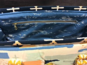 Moore Approved Bound Challenge Art Gallery Fabrics April Rhodes Swoon Patterns Nora Doctor Bag Gold Hardware Zippered Pocket Interior