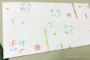 Quilted Cube Case Moore Approved fabric Brambleberry Ridge Pink Roses Slip Pocket Sewn Top Stitched