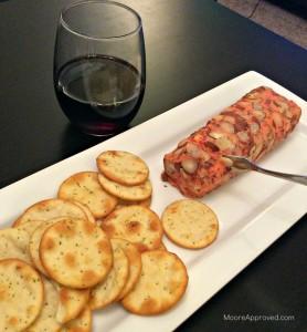 Moore Approved Bota Box Merlot Wine Aldi Port Wine Cheese Log Garlic Pita Crackers