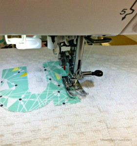 Moore Approved Monogram Applique Letter M Towel Sewing Machine Janome 7700