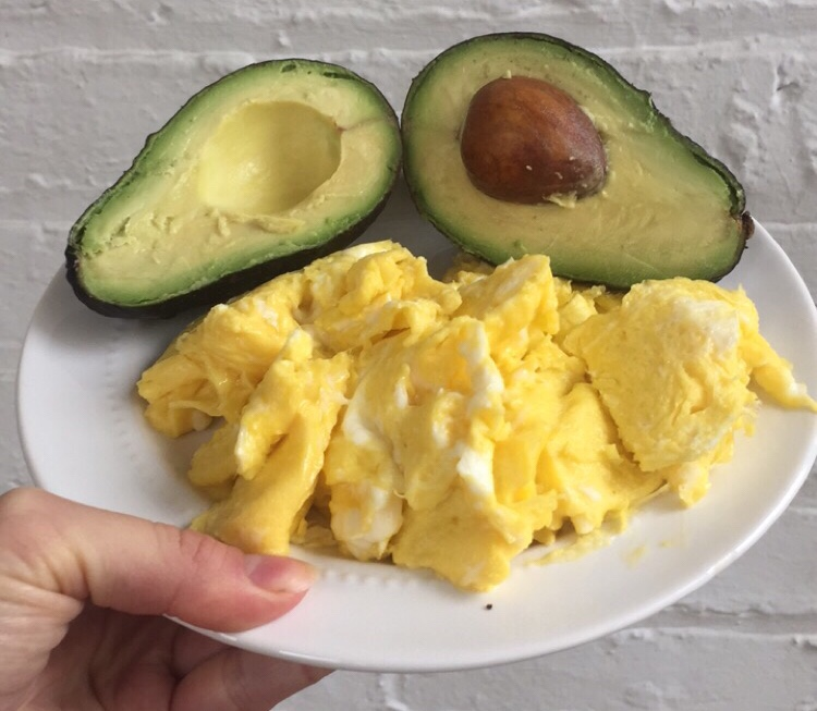 Scrambled Eggs and Avocado
