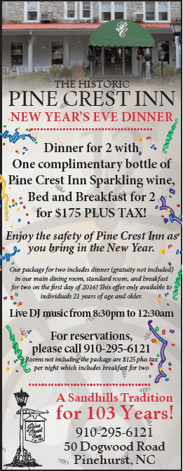 pine crest inn new years eve dinner