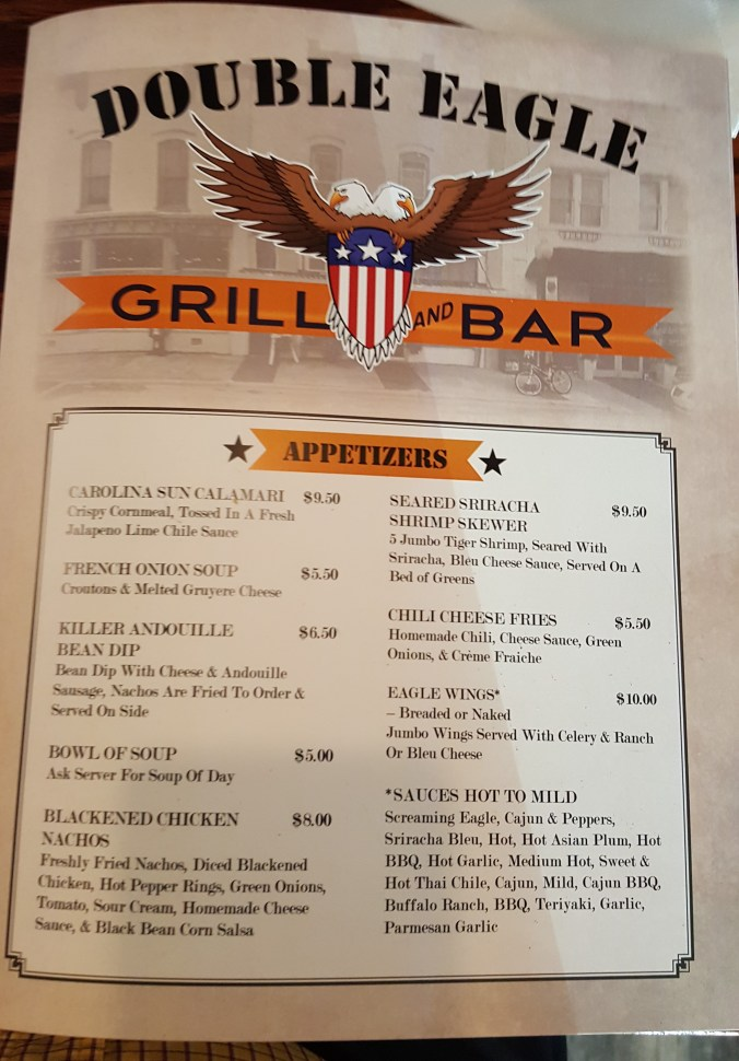 double eagle bar & grill menu