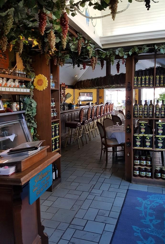 Theo's Taverna interior