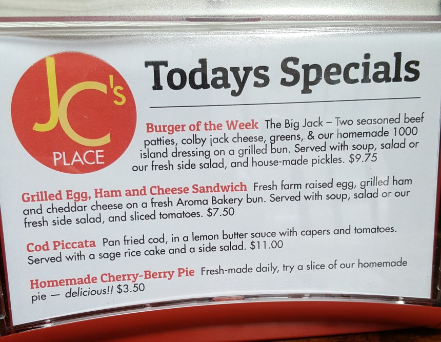 JCs Place specials
