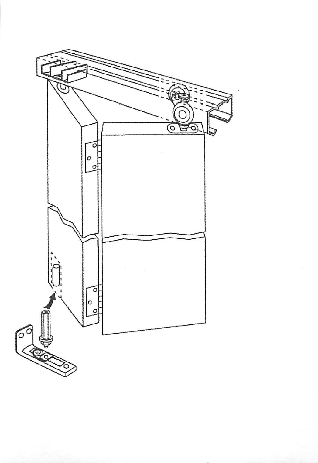 96 In Galvanized Series 4 Door Bifold Hardware