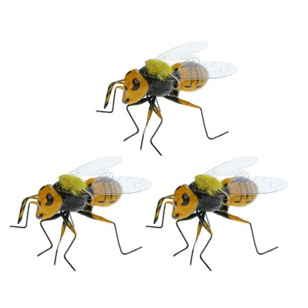 3pcs Miniature Nature Insect Bee Animals Magnet