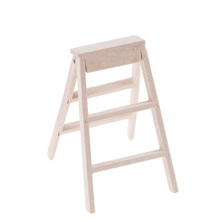 1:12 Miniature Wooden Step Ladder Dollhouse Tool Accessory