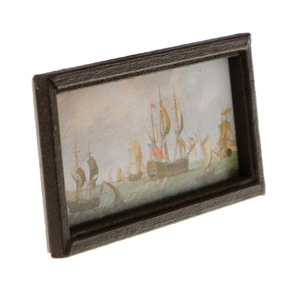 1Set 1:12 Dollhouse Miniature Oil Painting Wall Picture Decoration AccessoODFS