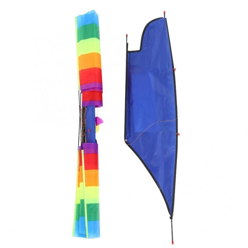 Portable 3D Huge Rainbow Sailboat Flying Kite Outdoor Sports Children Kids Game Activity Family Outdoor Camping Sailboat Kite