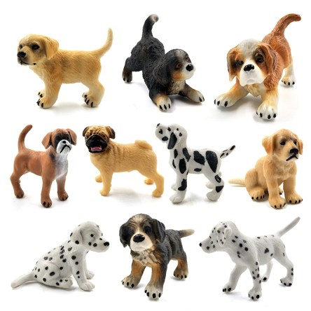 Miniature Variety Breed Puppy Display Figures