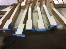 ivory piano keys being repaired