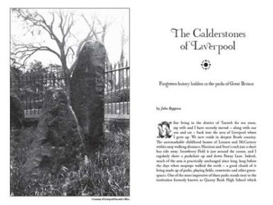 The Calderstones of Liverpool on Darklore