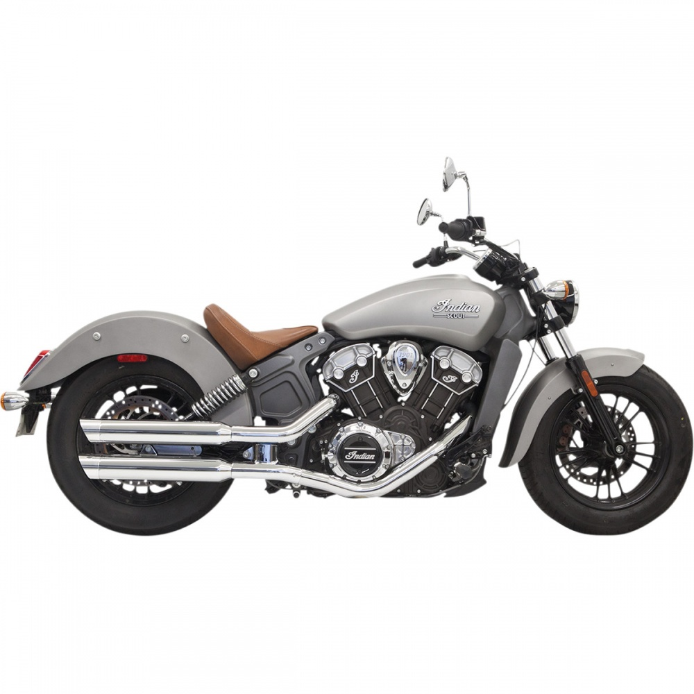 bassani classic slip on exhaust for scout and scout bobber
