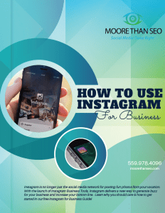 Shows cover of Moore Than SEO's free Instagram Guide for Business