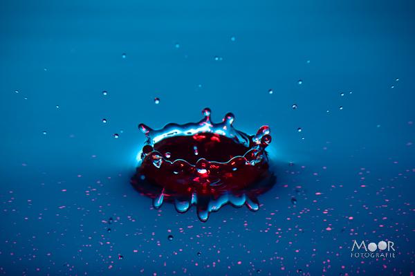 Druppelfotografie Waterdruppels Strobist