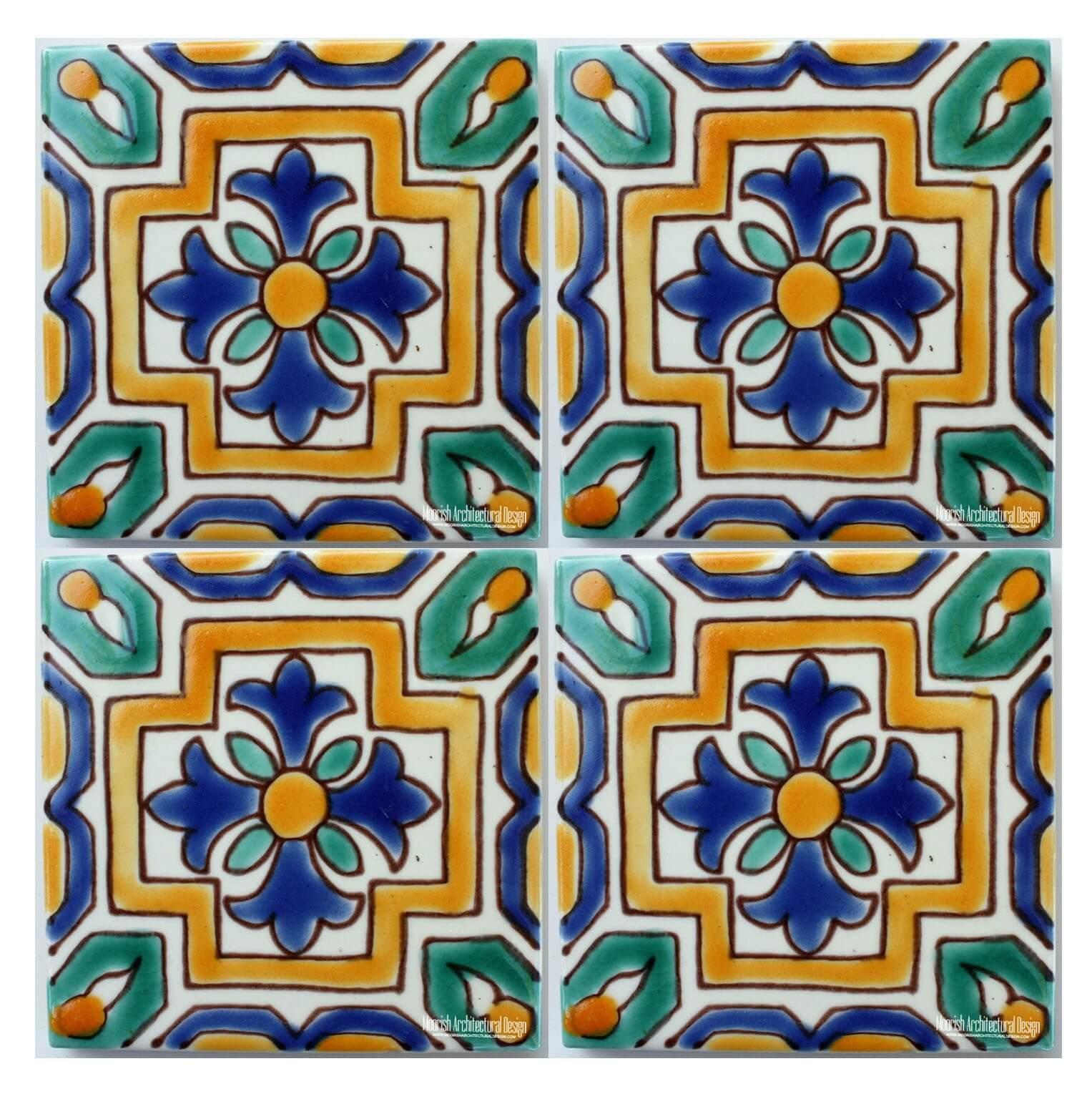 green and blue mediterranean tiles