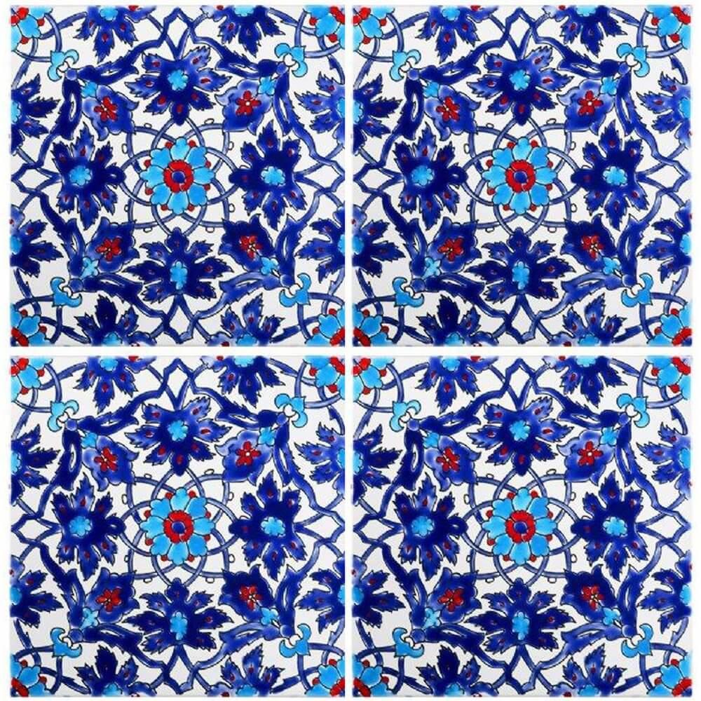 Blue Persian Tiles Iznik Tile Waterline Tile Ideas
