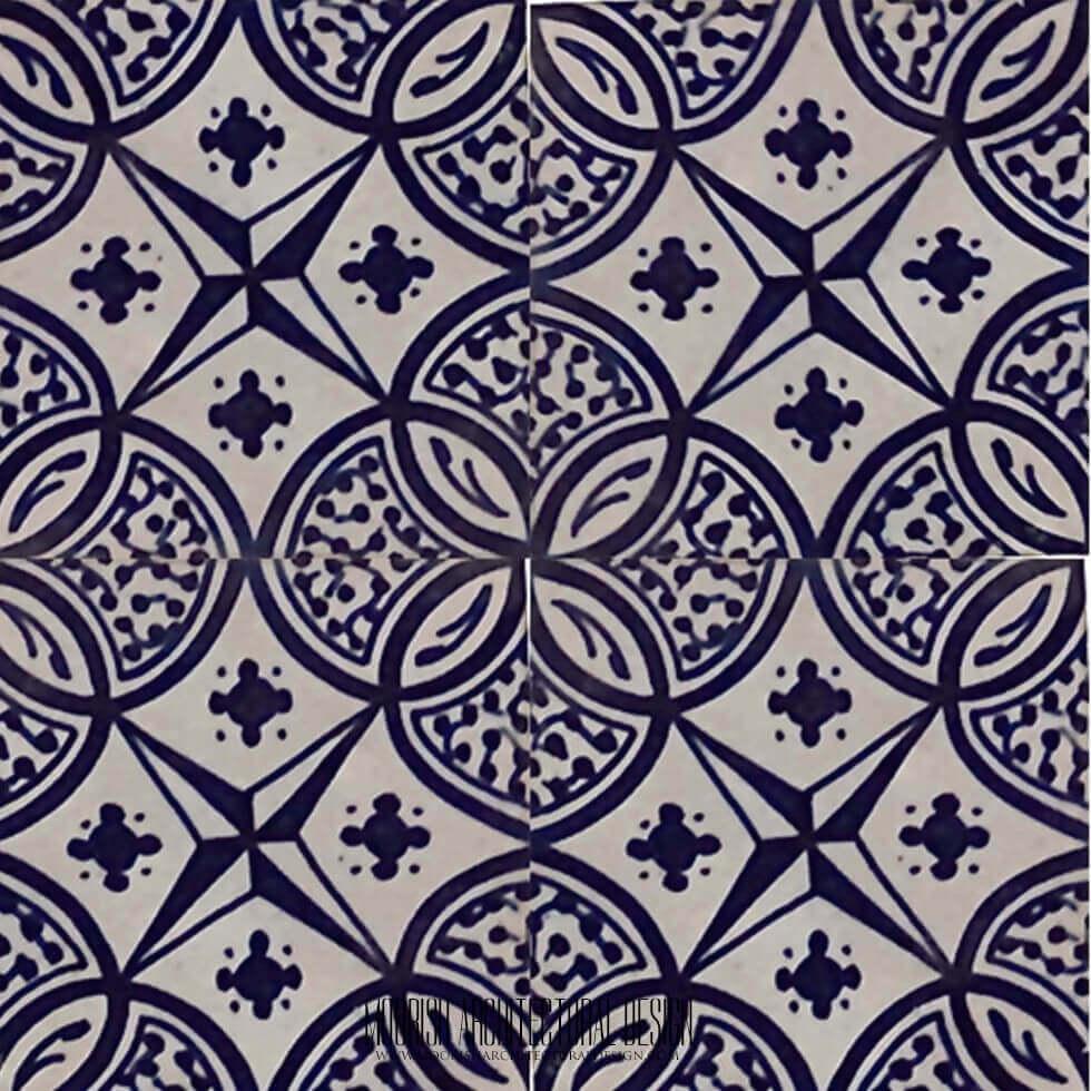 blue mexican tile blue moroccan