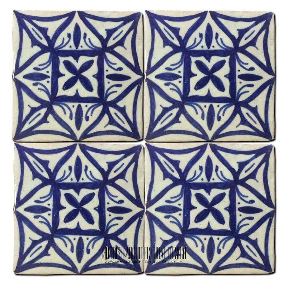 Blue Mediterranean Kitchen Ceramic Tile 4x4 Home Amp Kitchen