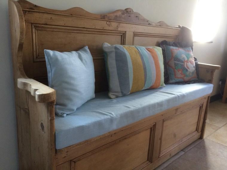 Moor Sewing, Cushions, box cushions, soft furnishings, hand made, Bovey Tracey, Devon