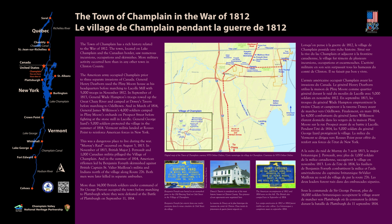 Town Of Champlain Historic Interpretive Panels