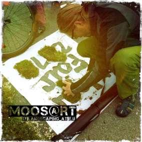 Moosgraffiti by moosart - WearFair 2013