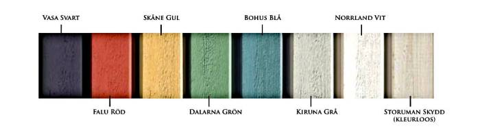 Houtverf kleuren