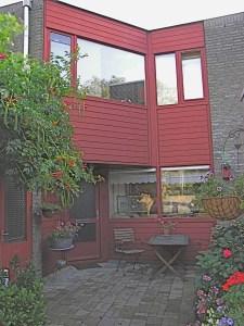 Zweeds rood (Falu Röd) in Amsterdam Fam. Barning