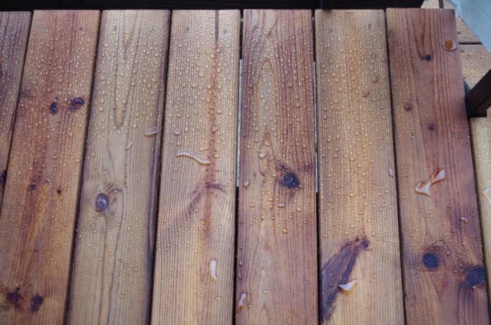 waterafstotende behandeling van hout