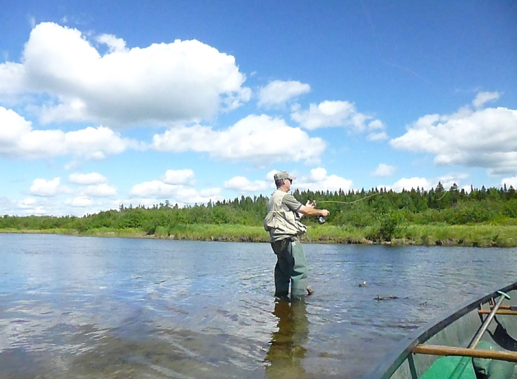 flyfishing on Moose River in Rockwood Maine