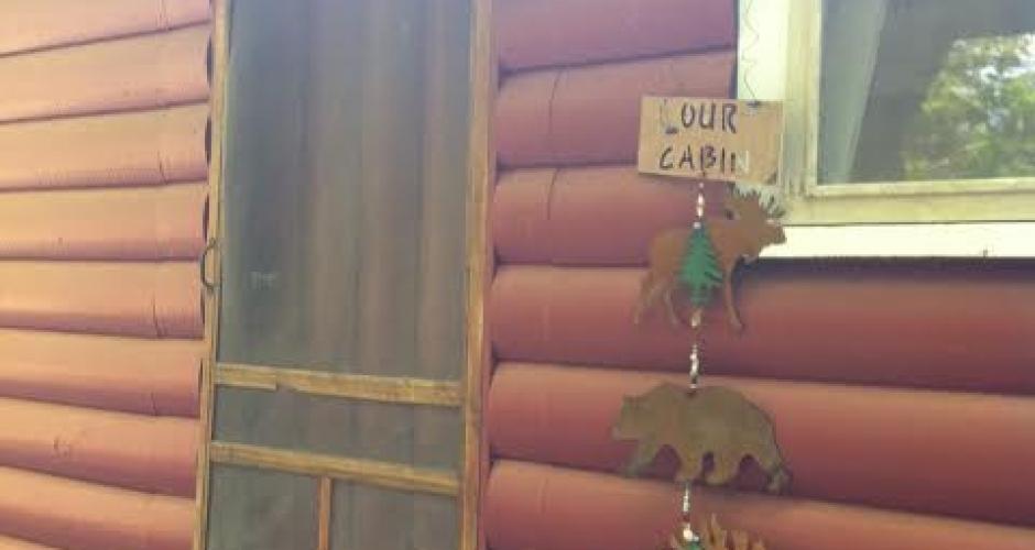 Maine Highlands Log Cabin Front Door