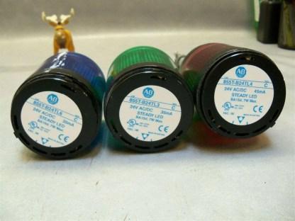 855T-Stack-Light-LED-Allen-Bradley-Blue-Green-Red-w-base-855T-BCB-ser-B-3