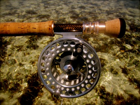 A large arbor reel with a solid drag will help you handle the long runs bonefish make