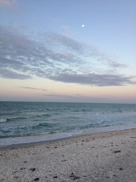 Sanibel Gulf Shore Moonrise
