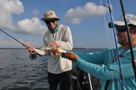 Brenton with a Lady Fish, treating her right.