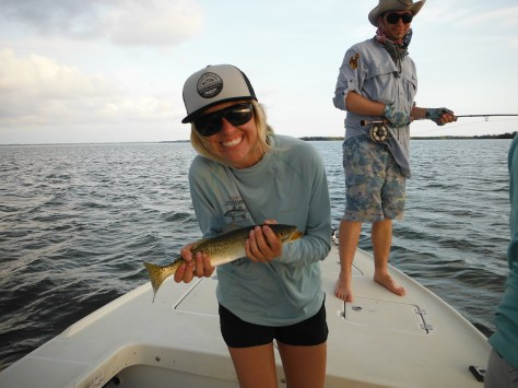 Jourdan with a Sea Trout